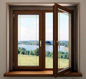 mediniai langai kaina
